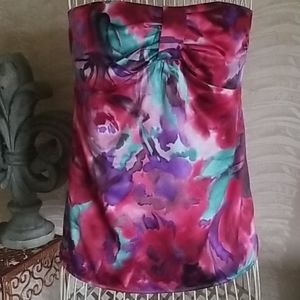 Ann Taylor Loft sleeveless top with multiple color